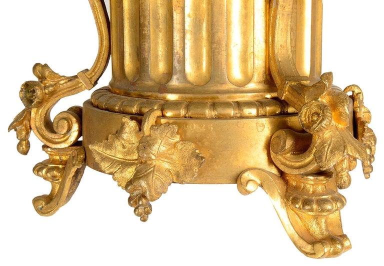 Large 19th Century Raingo Fres, Paris Clock Set For Sale 5