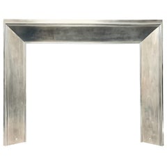 Large 19th Century Regency Steel Splayed Fireplace Insert
