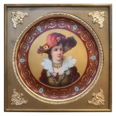 Large 19th Century Royal Vienna Charger in Frame Signed R.Russ