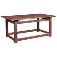 Large 19th Century Scandinavian Pine Painted Table