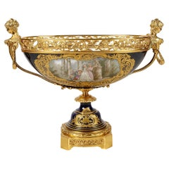 Large 19th Century Sevres Style Comport