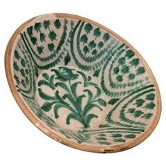 "Large 19th Century Spanish Granada Fajalouza ""Lebrillo"" Bowl"