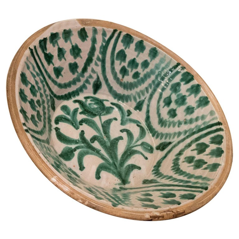 "Large 19th Century Spanish Granada Fajalouza ""Lebrillo"" Bowl For Sale"