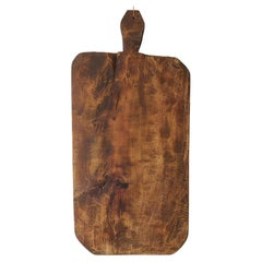 Large 19th Century Turkish Bread Board with Handle