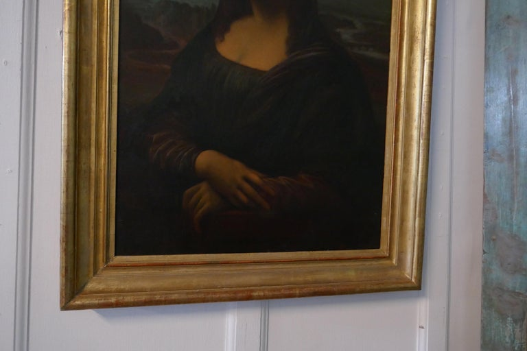 Large 19th Century Unsigned French Oil Painting, Study of an Italian Lady For Sale 9