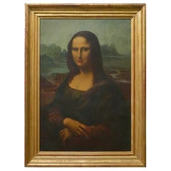 Large 19th Century Unsigned French Oil Painting, Study of an Italian Lady