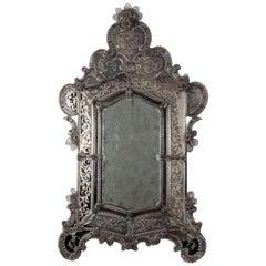 Large 19th Century Venetian Glass Mirror