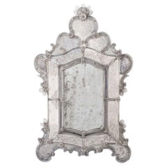 Large 19th Century Venetian Glass Mirror