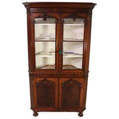 Large 19th Century Victorian Mahogany Corner Cabinet