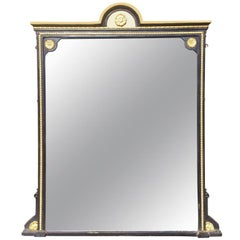 Large 19th Century Victorian Overmantle Mirror