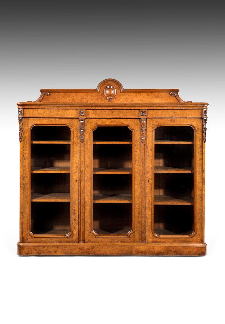 Large 19th Century Victorian Pollard Oak Three-Door Bookcase 10