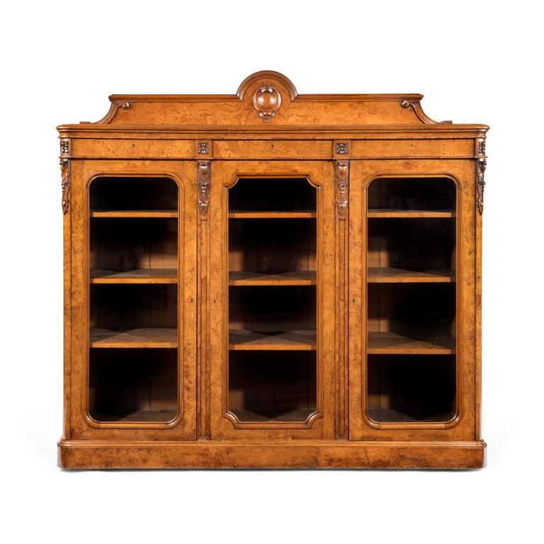 Large 19th Century Victorian Pollard Oak Three-Door Bookcase 11