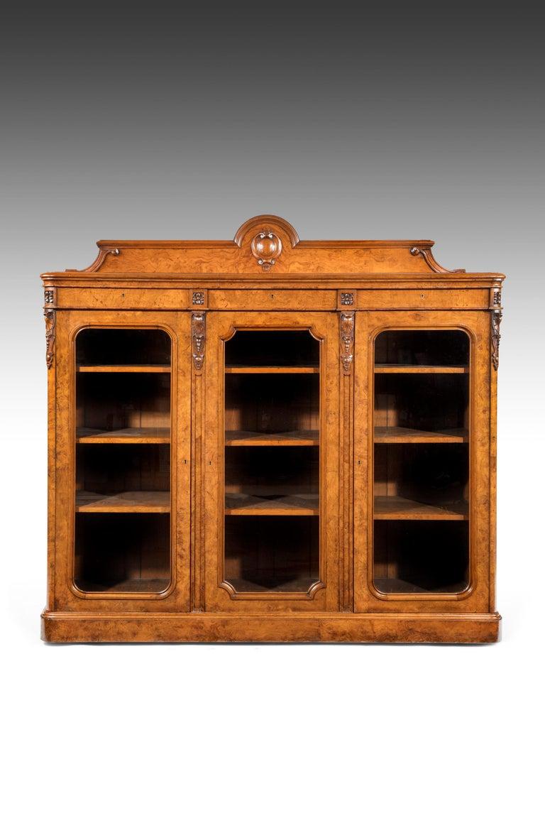 Large 19th Century Victorian Pollard Oak Three-Door Bookcase 2