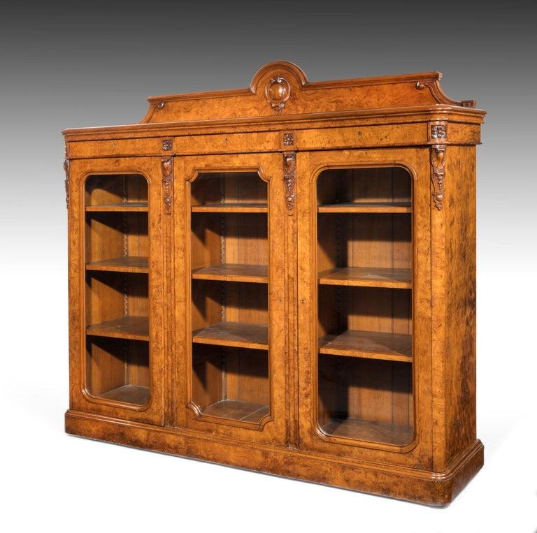 Large 19th Century Victorian Pollard Oak Three-Door Bookcase 3