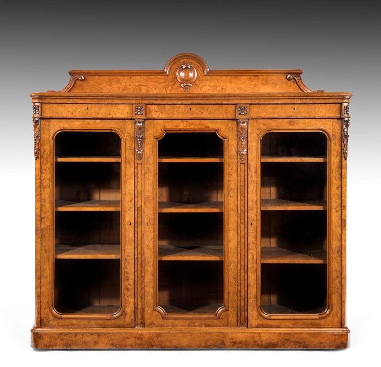 Large 19th Century Victorian Pollard Oak Three-Door Bookcase 4