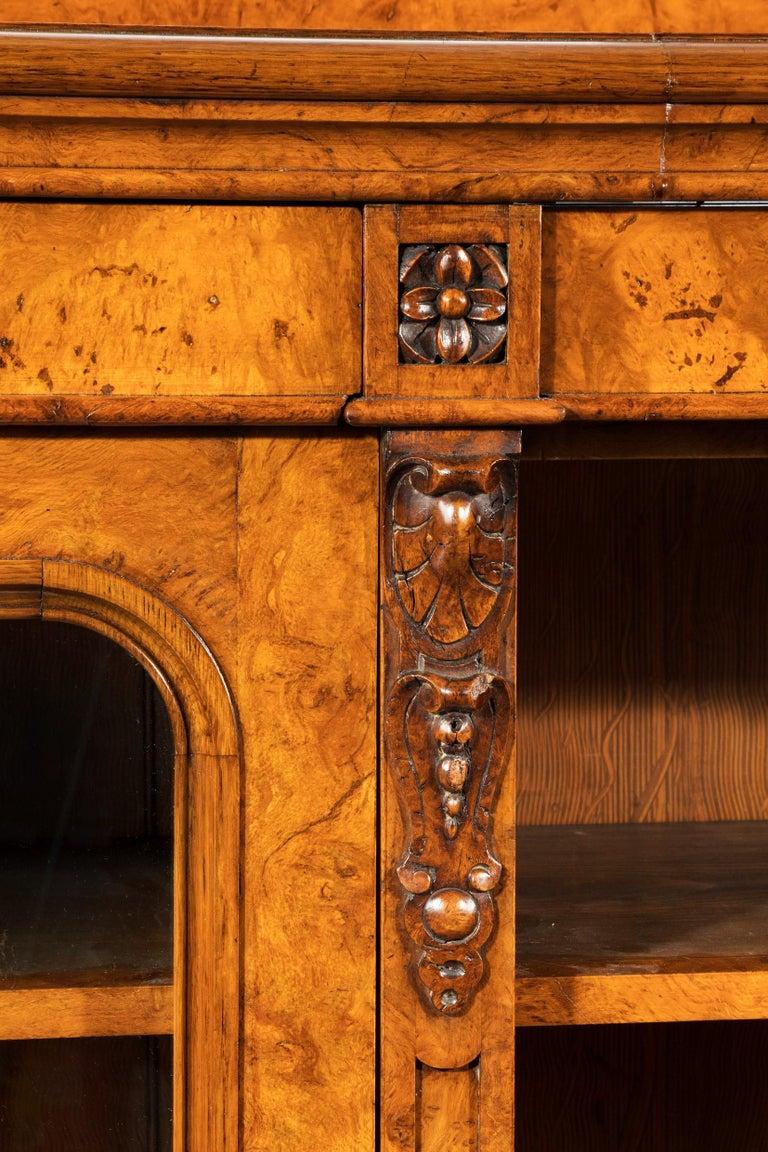 Large 19th Century Victorian Pollard Oak Three-Door Bookcase 5