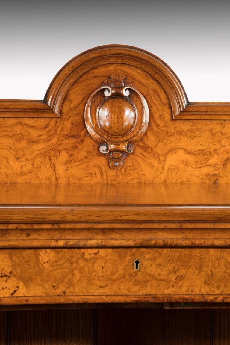 Large 19th Century Victorian Pollard Oak Three-Door Bookcase 7