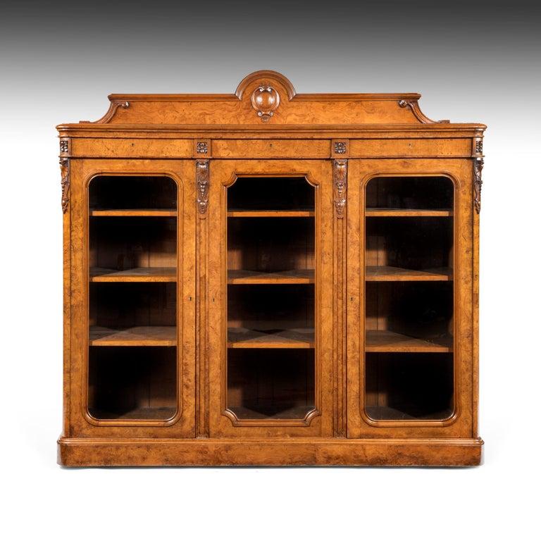 Large 19th Century Victorian Pollard Oak Three-Door Bookcase 8