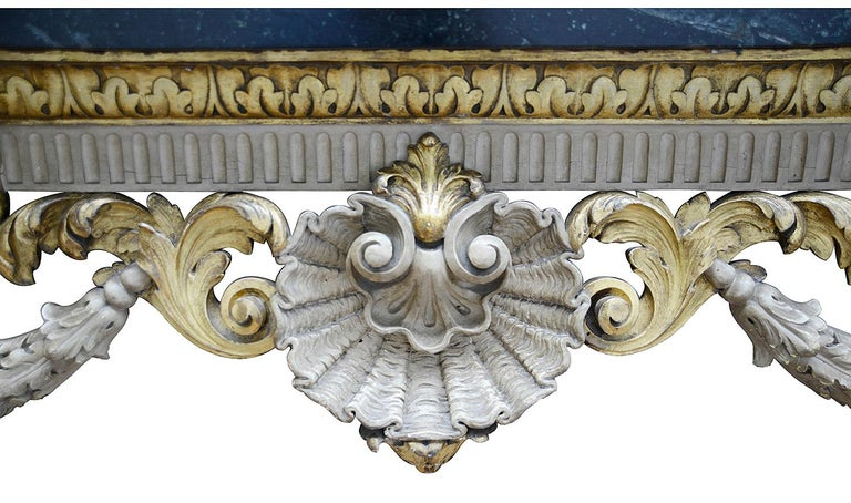 Large 19th Century William Kent Style Console Table In Good Condition For Sale In Brighton, Sussex