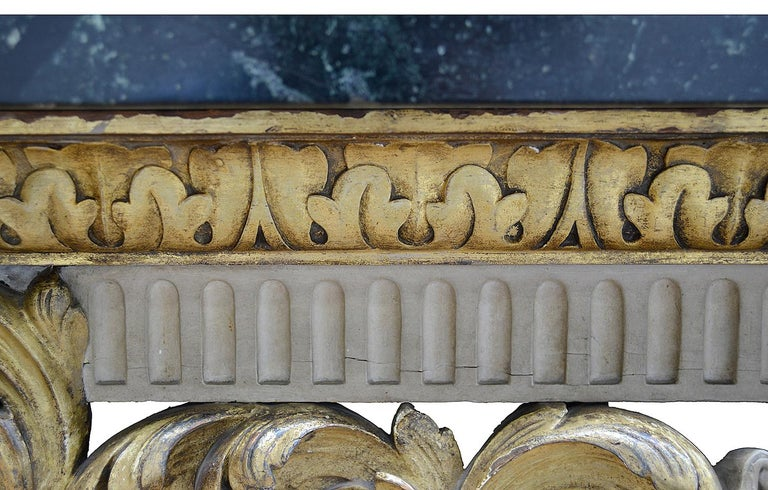 Giltwood Large 19th Century William Kent Style Console Table For Sale