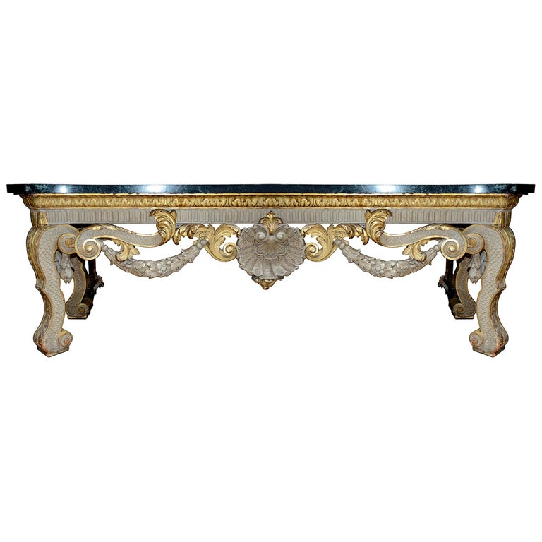 Large 19th Century William Kent Style Console Table For Sale