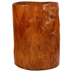 Large 19th Century Wood Storage Vessel