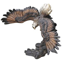 Large 20th Century Bronze Sculpture of an American Bald Eagle