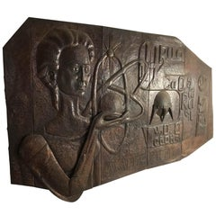 Large 20th Century Commemorative Copper Sculpture Wall Plaque Wall Art
