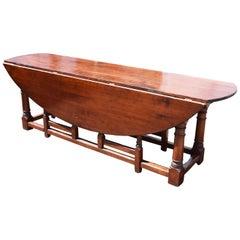 Large 20th Century English Fruitwood Wakes Table