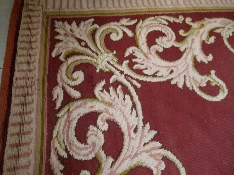 Other Large 20th Century Hand Knotted Wool Spanish Rug For Sale