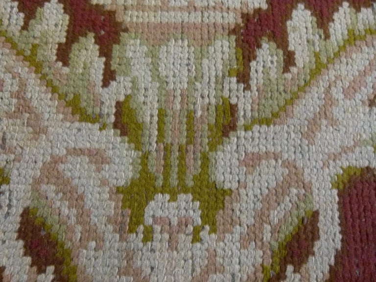 Large 20th Century Hand Knotted Wool Spanish Rug For Sale 1