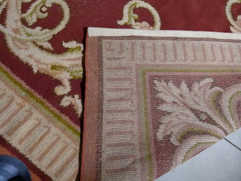 Large 20th Century Hand Knotted Wool Spanish Rug For Sale 2