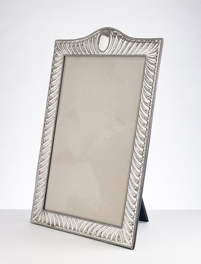 English Large 20th Century Silver Photo Frame Dated, London, 1904 For Sale
