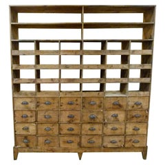 Large 20th Century Wooden Spanish Sorter Cabinet