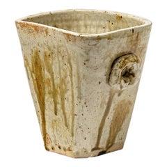 Large 20th Midcentury Stoneware Ceramic Vase by F Guillaume La Borne Art Deco