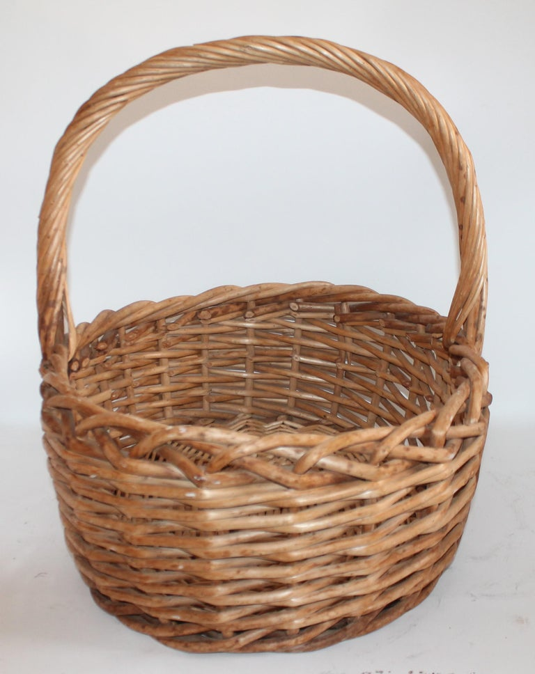 Adirondack Large 20th Century Rustic Basket For Sale