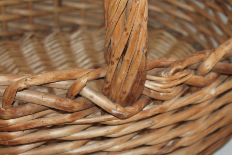 American Large 20th Century Rustic Basket For Sale