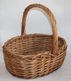 Large 20th Century Rustic Basket
