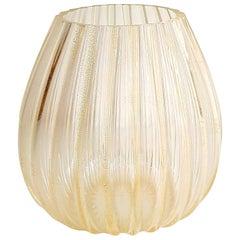 Large 24-Karat Gold Murano Glass Vase