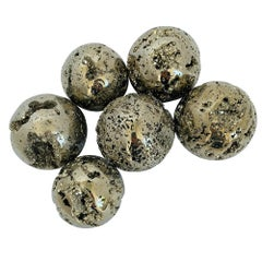 "Large 3"" Diameter Polished Pyrite Spheres"