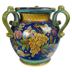 Large 3 Handle Majolica Jar