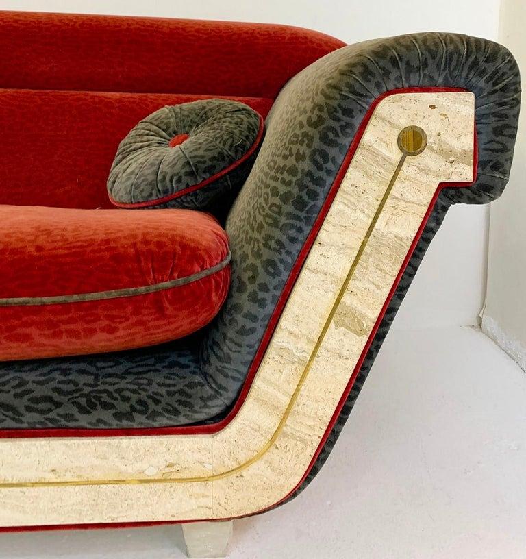 Late 20th Century  Large 3 Seater Italian Sofa For Sale
