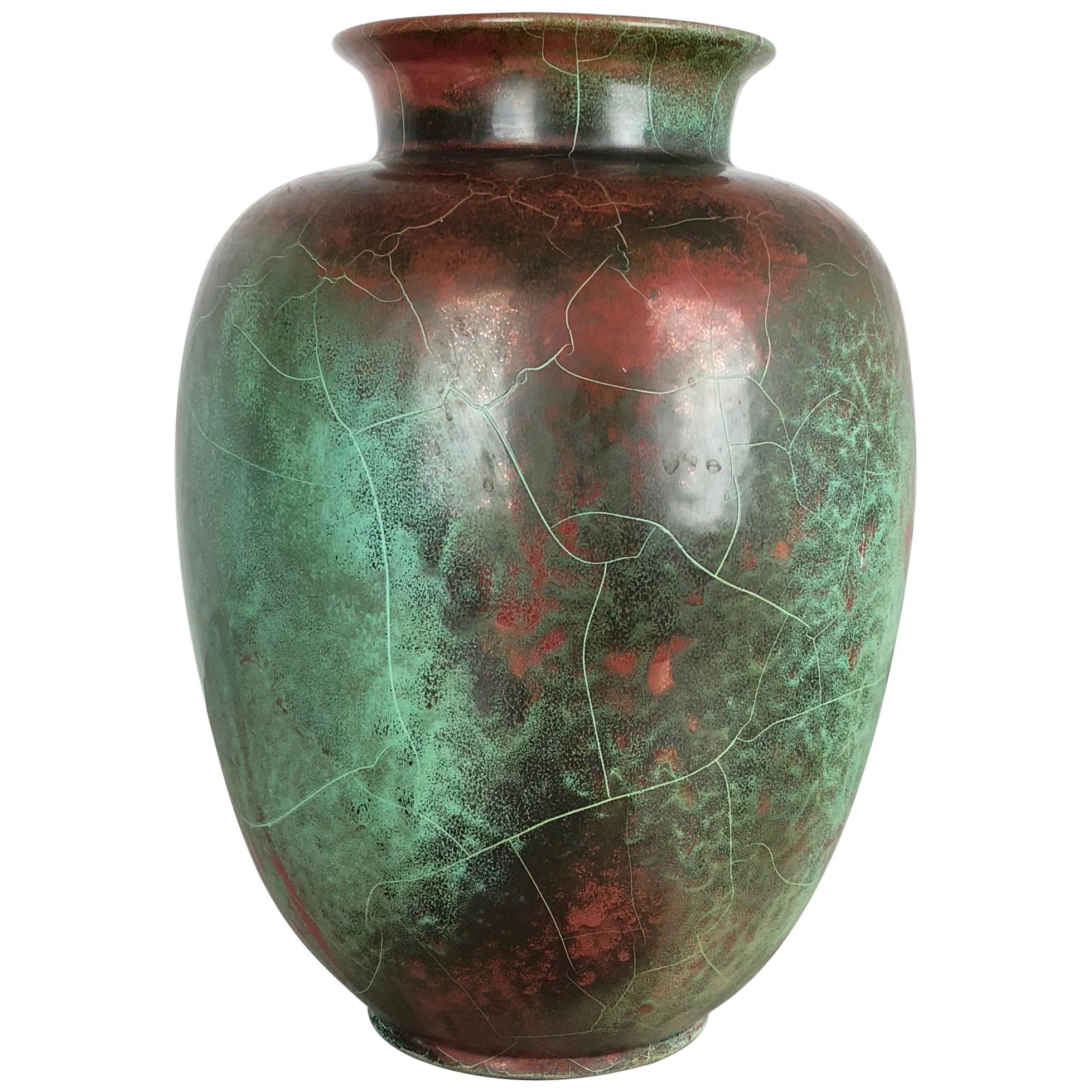 Large Ceramic Studio Pottery Vase Richard Uhlemeyer, Hannover Germany, 1940s