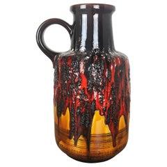 Large Pottery Super Multi-Color Fat Lava Vase Scheurich WGP, 1970s