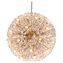 Large 47 in. 'Sputnik' Chandelier in Brass and Glass