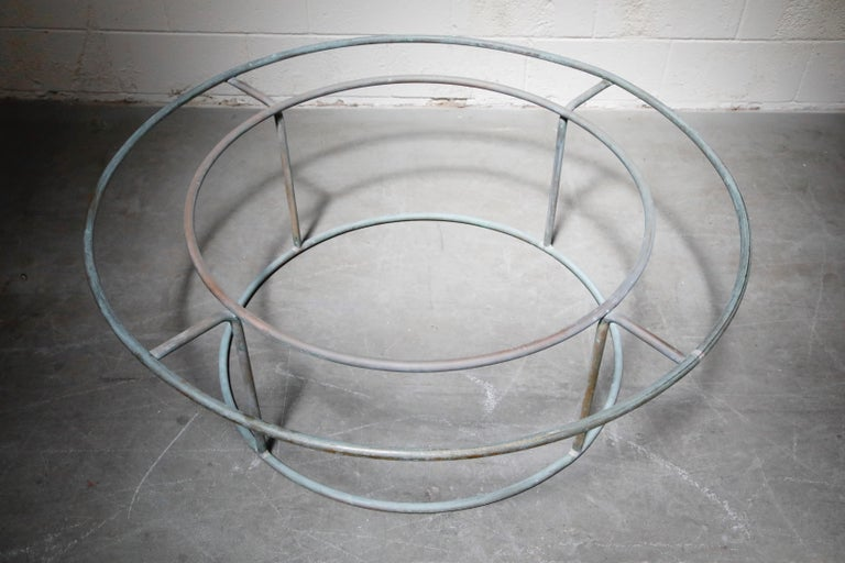 Large Copper Coffee Table by Walter Lamb for Brown Jordan For Sale 4