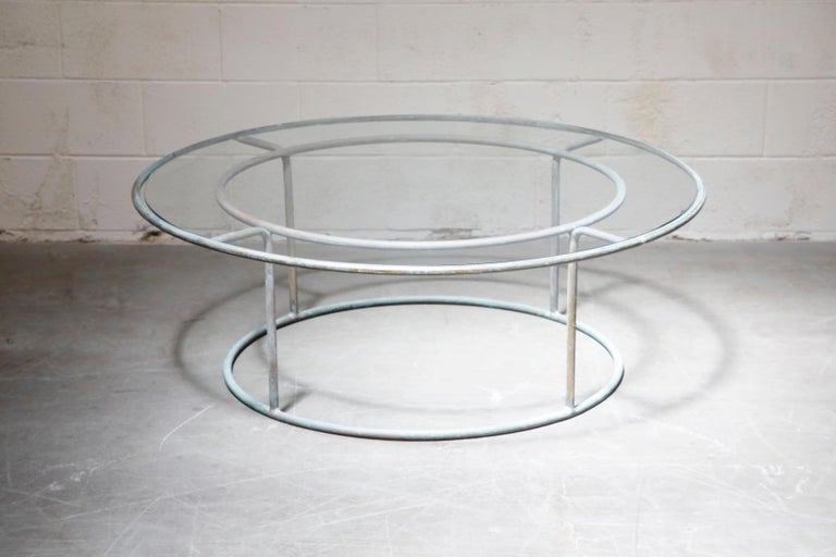 Large Copper Coffee Table by Walter Lamb for Brown Jordan For Sale 5