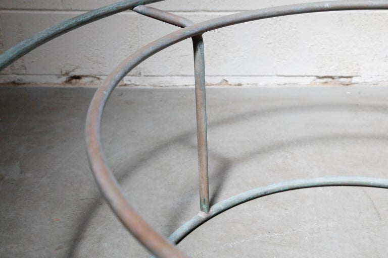 Large Copper Coffee Table by Walter Lamb for Brown Jordan For Sale 13