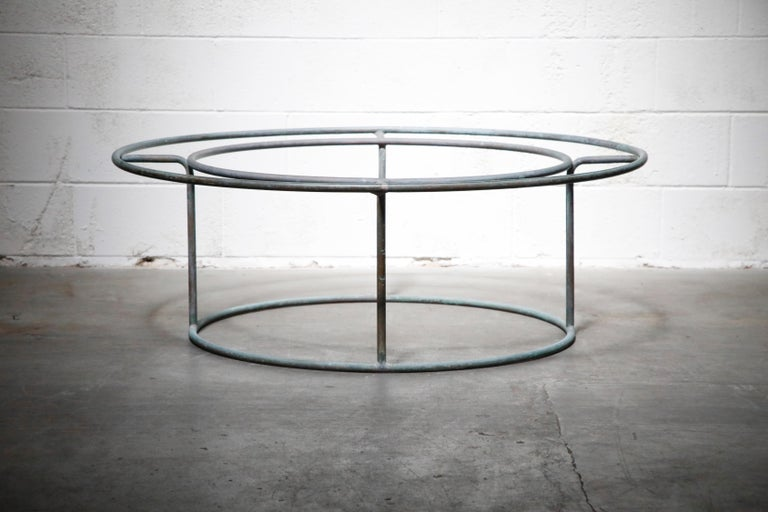 Mid-Century Modern Large Copper Coffee Table by Walter Lamb for Brown Jordan For Sale