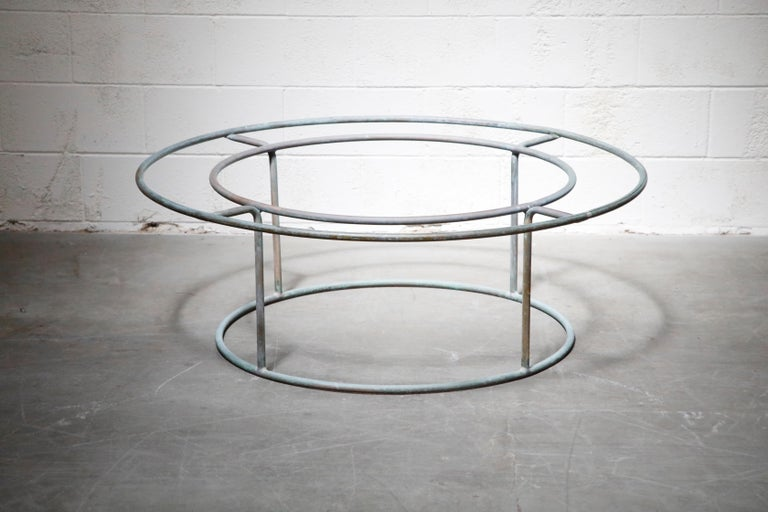 American Large Copper Coffee Table by Walter Lamb for Brown Jordan For Sale